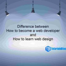 Difference between how to become a web developer and how to learn web design